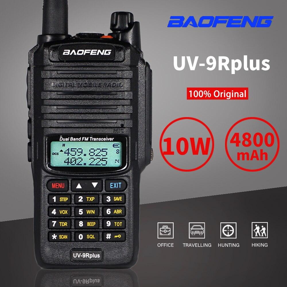 walkie talkie baofeng uv 9r plus de 10w a prova d agua banda dupla transmissor fm