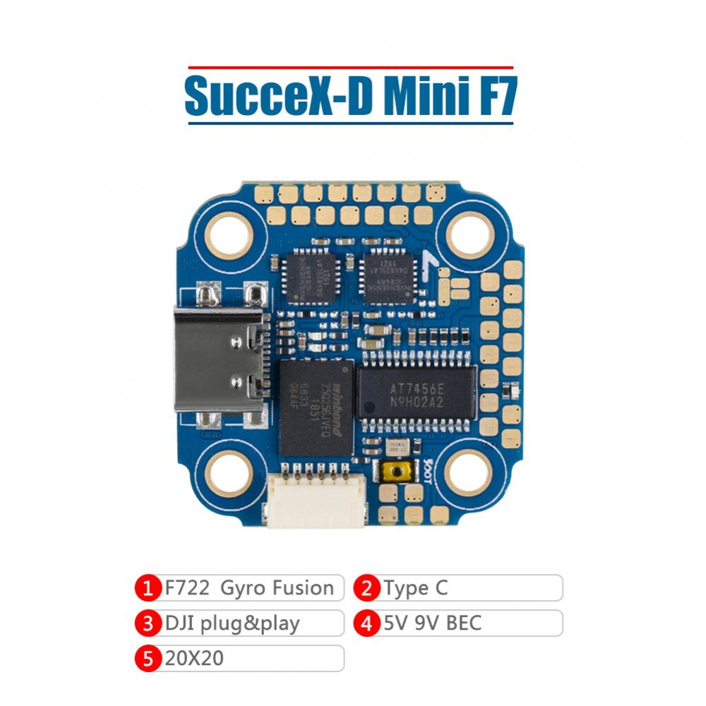 Iflight succex-d mini f7 twing 2-6s twing controlador de vôo para o controlador para a longa distância gps constrói