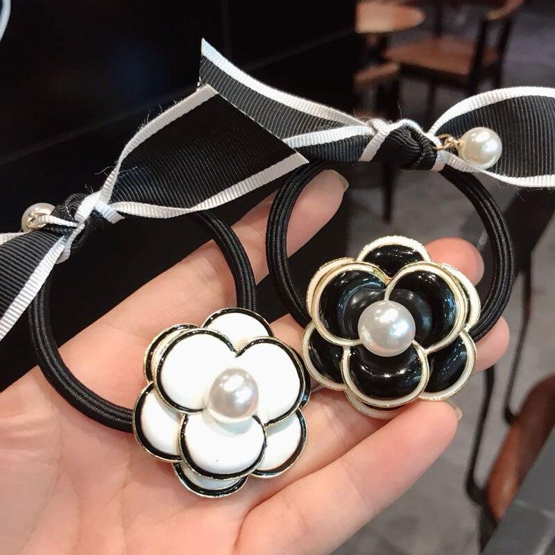 Flower Pearl Hair Bands For Women Nylon Headbands Womens Hair Accessories Fashion Hair Accessories For Girls