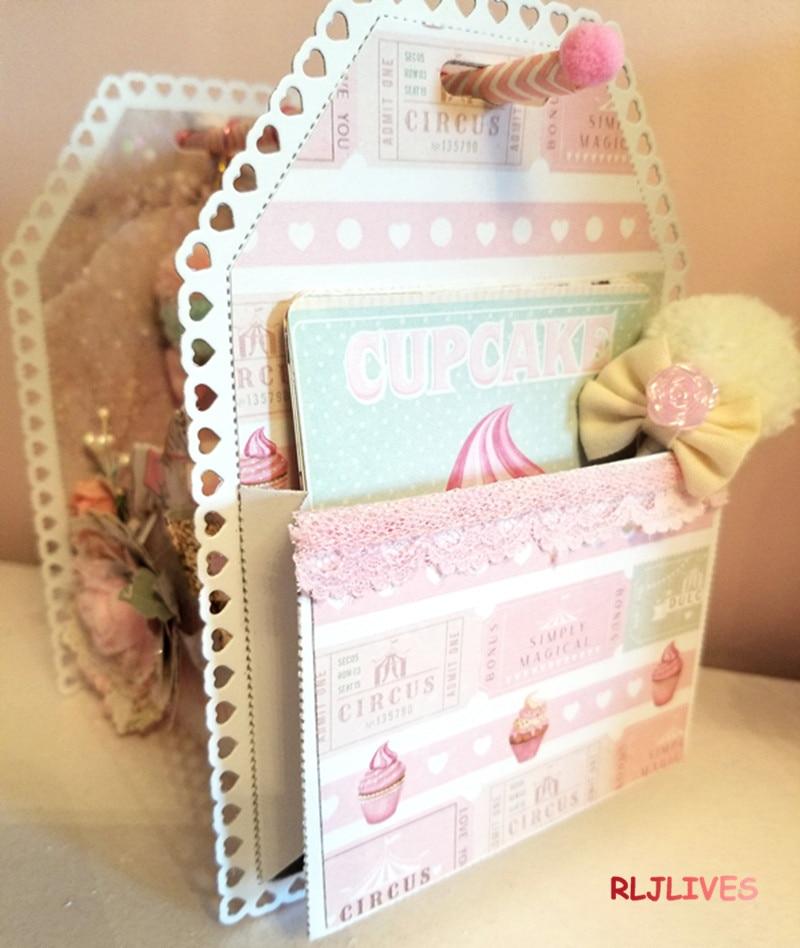 Love Swap etiquetas con bolsillos Metal troqueles de corte plantillas para álbum para recortes de fotos tarjetas de gofrado de papel DIY decorativas