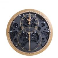 silent industrial design wall clock modern design vintage wall clocks old fashion gearwheel zegary living room decoration bi50wc