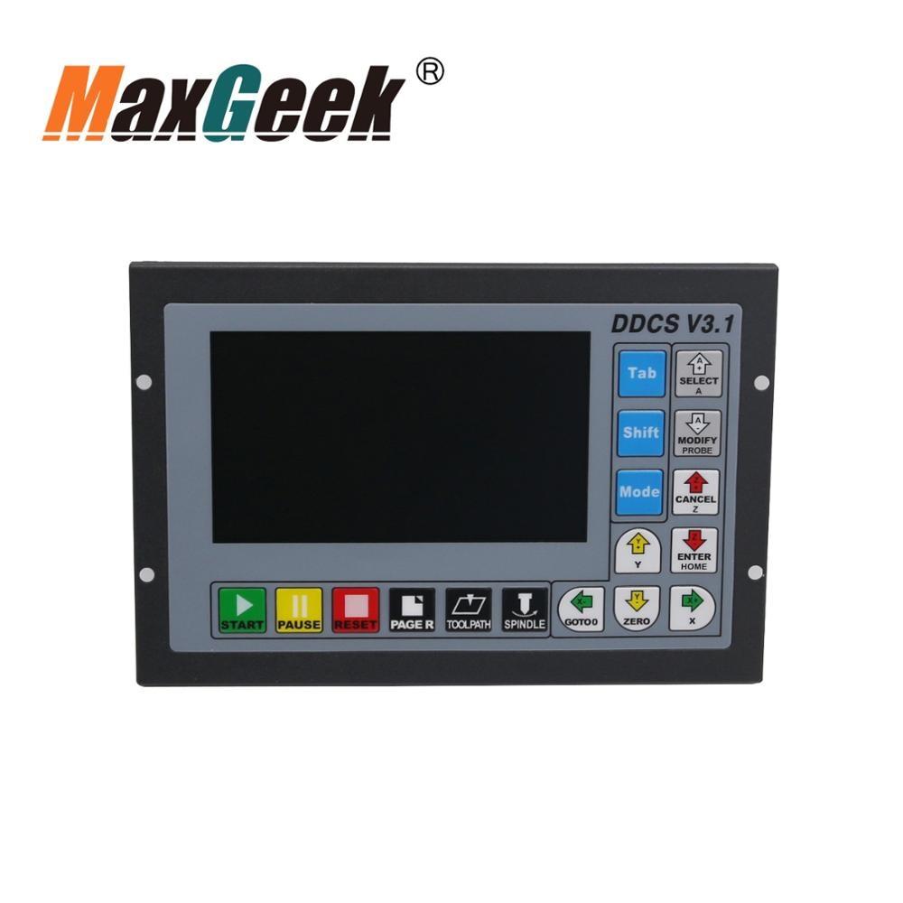 Maxgeek 3 Axis Motion Controller Offline CNC Controller 500KHz CNC Standalone Control DDCS V3.1