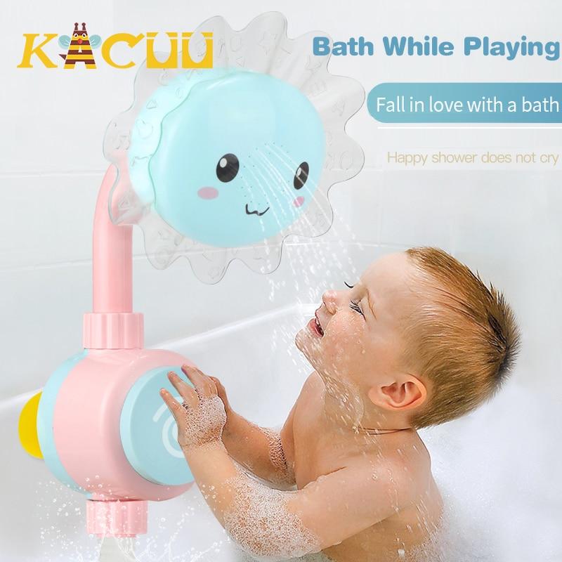 Детский Душ Водопад ванна игрушка мультфильм Подсолнух кран спрей вода для ванны полоскание детская ванная игрушка для ванной детский пода...
