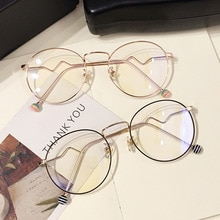 Round Oversize Clear Glasses Women Optical Computer Spectacles Anti Blue Light Eyeglasses Frames Gam