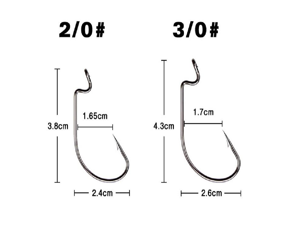 Nickel Crank Hook 51 pcs/lot Fishing Group High Carbon Steel Fishhooks Lure Soft Hooks Fishing Tackle enlarge