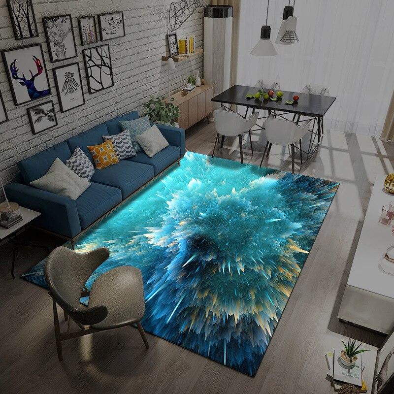 Alfombra 3D meteoro estrella, alfombras de gran tamaño para sala de estar, mesa de centro, dormitorio, habitación de niños, sofá suave, alfombras para recibidor de casa, tapete