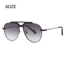 2020 Fashion Top Quality Classic Pilot Style Gradient Sunglasses Men Rivet Luxury Brand Design Sun G