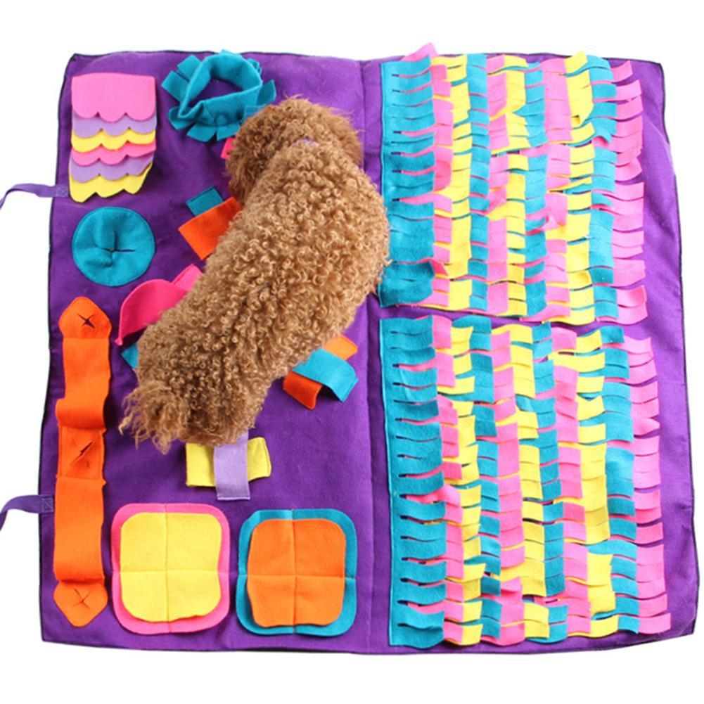 Собачий нюхательный коврик для домашних животных, тренировочное одеяло, съемные флисовые прокладки, коврик для собак, снятие стресса, игруш...