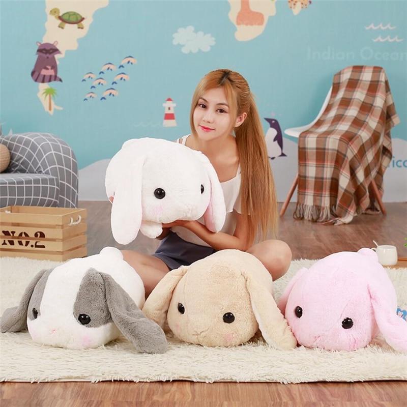 40cm Big Long Ears Rabbit Plush Animals Toys Stuffed Bunny Rabbit Soft Toys Baby Kids Sleep Toys Birthday Christmas Gifts