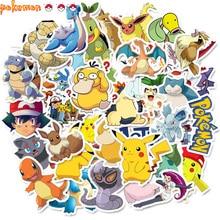 50 PCS Pokemon Laptop Pikachu Anime Stickers Waterproof Vinyl Decal Helmet Bicycle Luggage Guitar Car Stickers