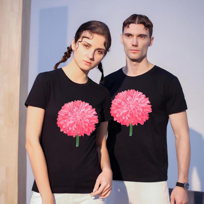 Camiseta original negra de talla grande a la moda de verano 2020, Harajuku Camiseta de manga corta para mujer, pareja mágica de personalidad suave para chica