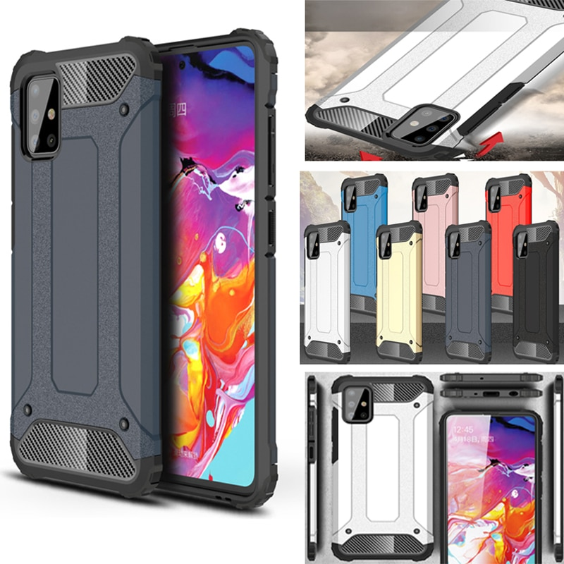 Caso a prueba de golpes para Samsung A50 A30 A10 A40 A70 S caso armadura funda para Samsung Galaxy A51 A71 A01 A21 M20 M10 A7 2018 casos