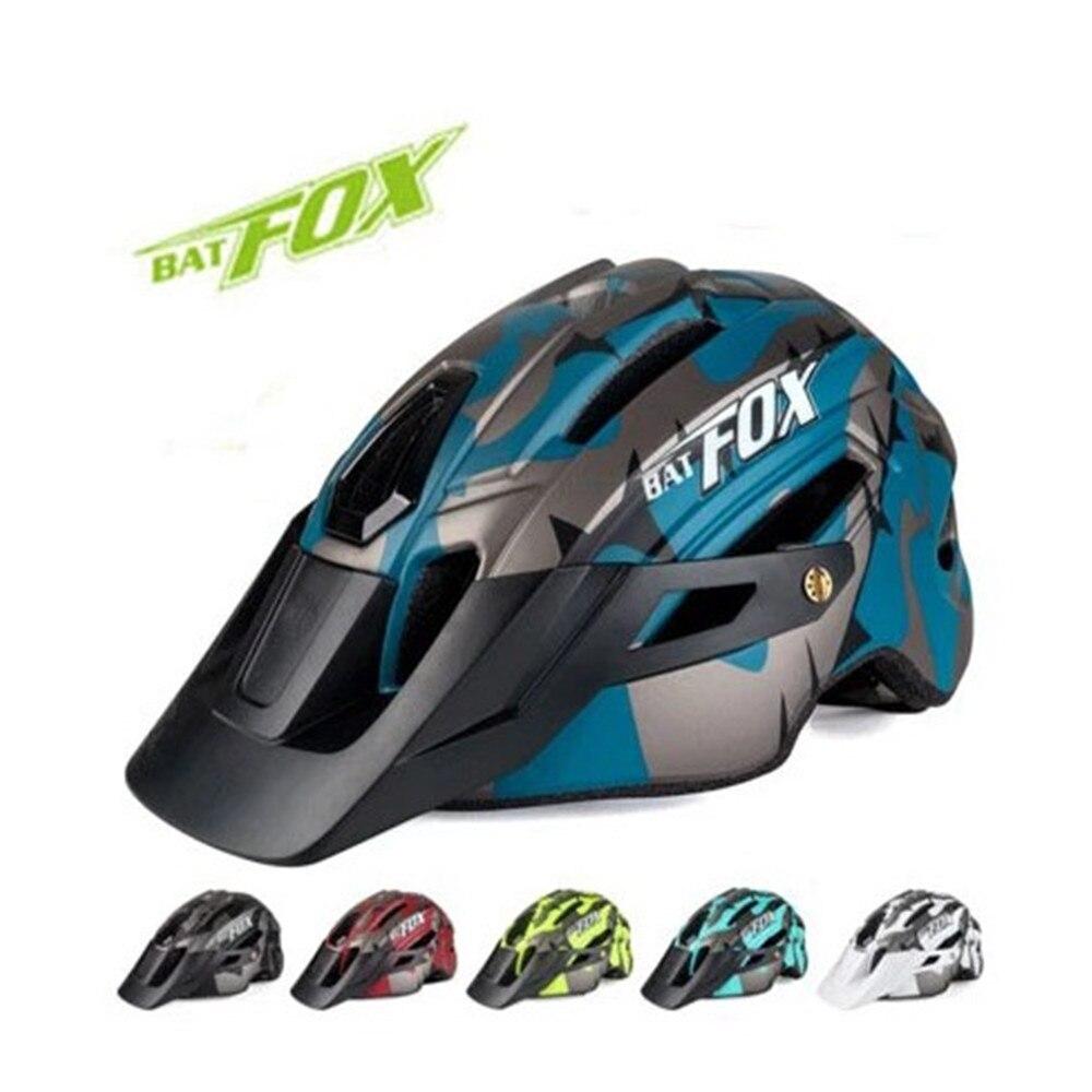 BATFOX-casco de camuflaje para bicicleta de montaña o carretera, con luz trasera...