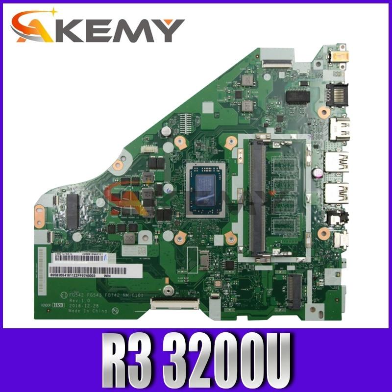 Akemy لينوفو L340-15API L340-17API V155-15API اللوحة المحمول FG542 FG543 FG742 NM-C101 CPU R3 3200U اختبار 100% العمل