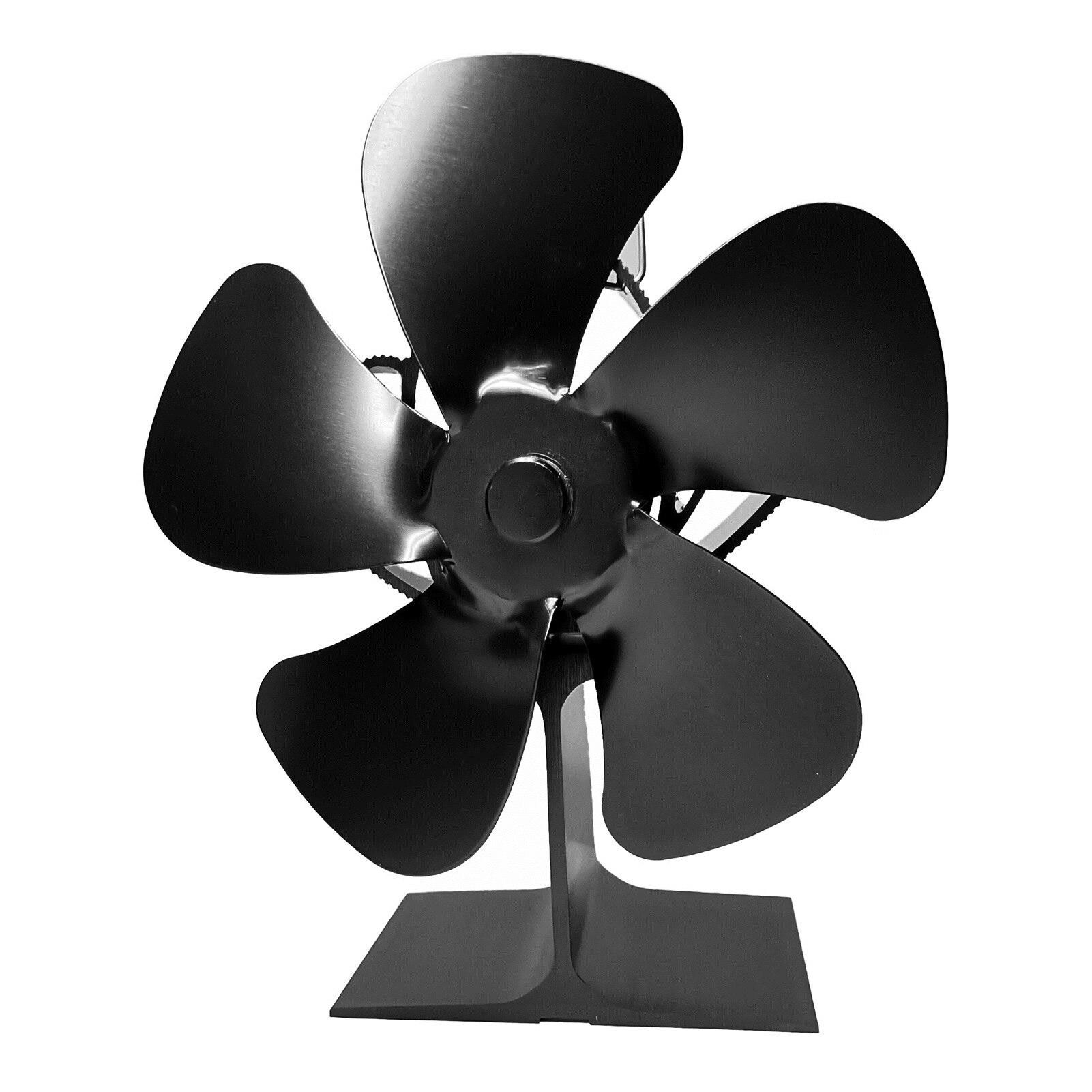 Вентилятор для камина 5 лопастей для дровяной плиты, нагревательный вентилятор для камина, нагреватель, вентилятор для камина, эффективное ...