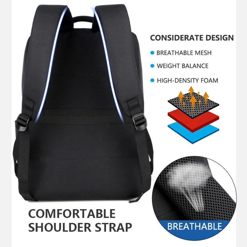 Business Laptop Backpacks 14 15.6 Inch Fashion Men Travel bag Backpack Multifunction Nylon School bags for Teenagers sac mochila