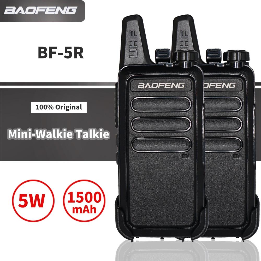 Baofeng BF-R5 Mini walkie-talkie UHF transceptor 400-470MHz WLN KD-C1, portátil, KDC1 Ham Radio CB, Radio bidireccional, carga USB