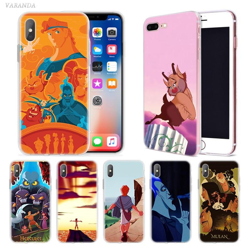 Hércules Anime caso para iphone 11 Pro XS Max XR X 10 7 7 6 6S Plus 5 5SE 5C de vivienda teléfono Coque cubierta Cas 7 + 8 + 6S + 6 +