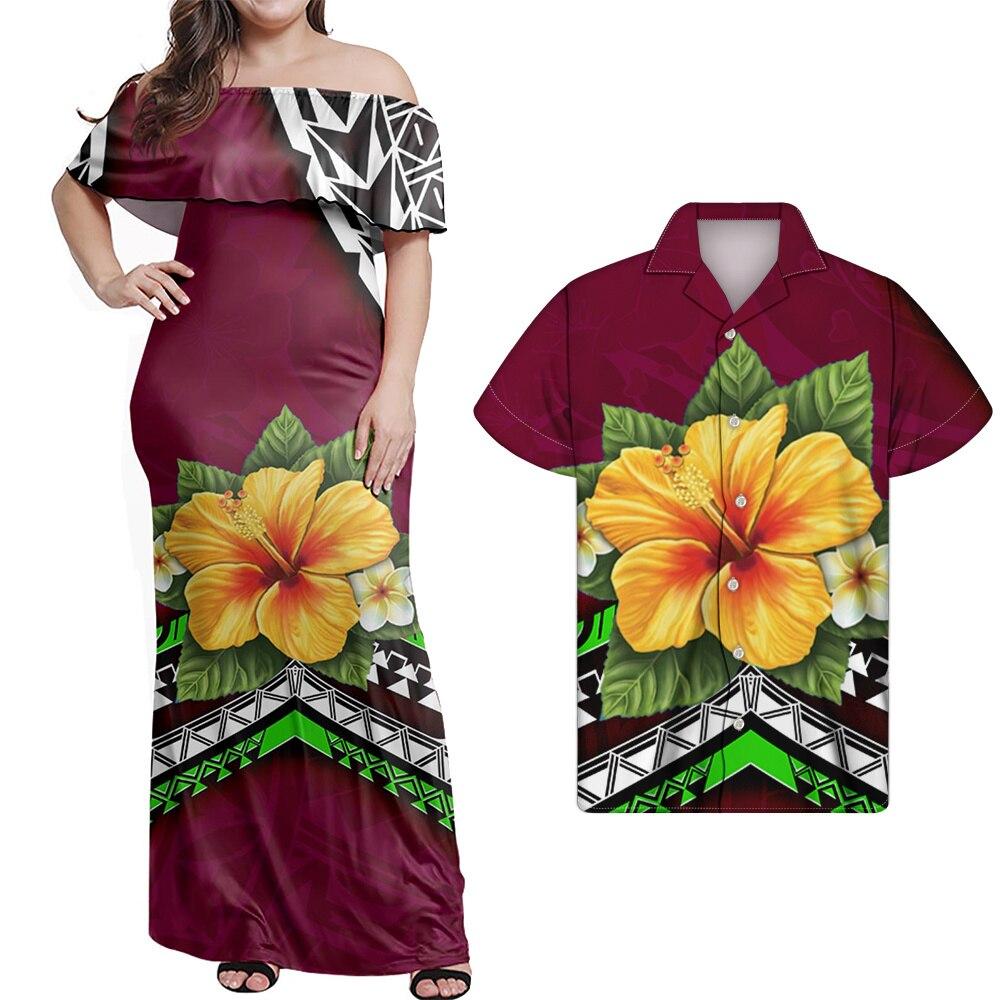 HYCOOL بولينيزيا هاواي زهرة قبالة فستان باكتاف مفتوحة الساخن مثير حمالة المرأة حفلة عيد ميلاد وتتسابق الصيف نادي Bodycon فساتين