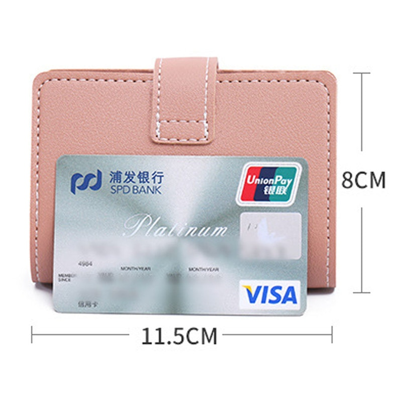2021 New Anti-theft ID Credit Card Holder Fashion Women's 26 Cards Slim PU Leather Pocket Case Purse Wallet for Women Men Female
