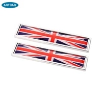 1 pair country national flag england british hot metal stickers car styling motorcycle accessories badge label emblem car sticke
