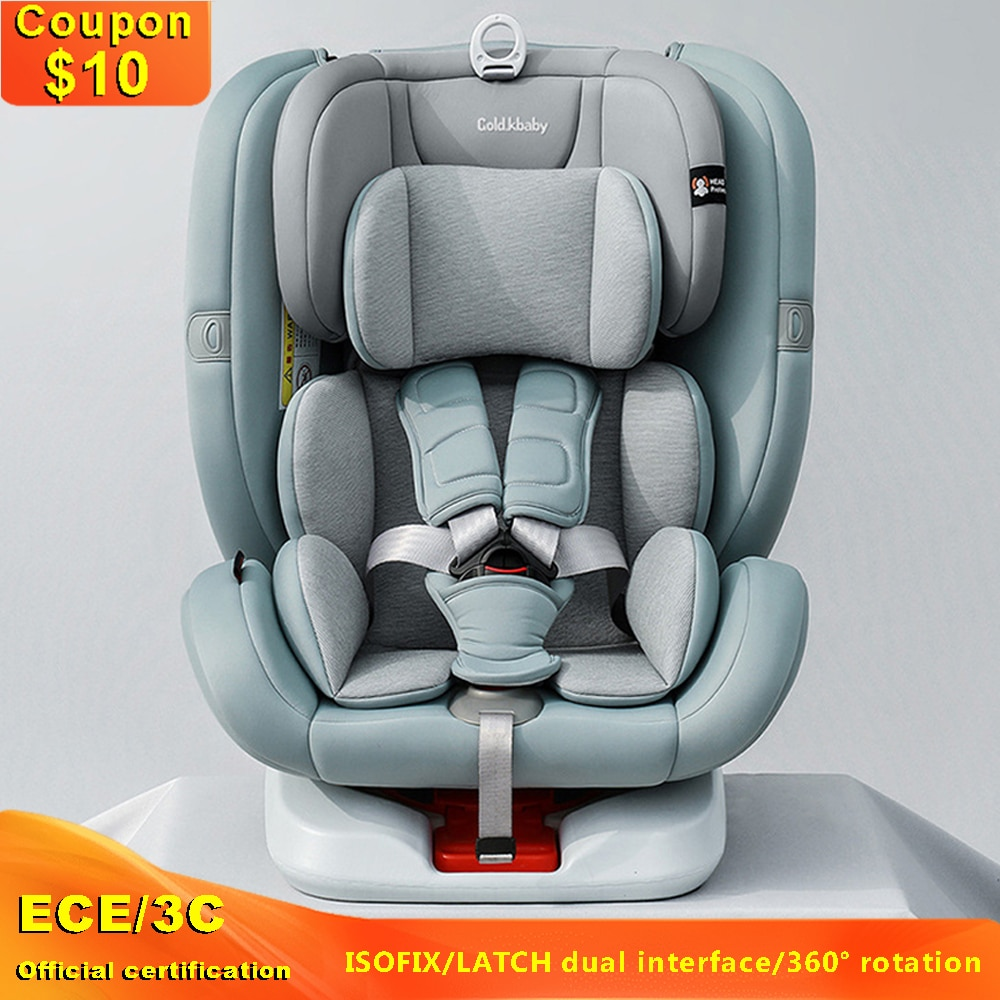 Baby Car Safety Chair Car General Support Isofix and Latch Interface Infant Car Seat Adjustable Angle with 0-12 Years Newborns