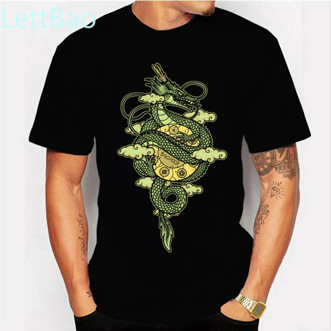 Camiseta de Dragon Ball Shenron 2020, camiseta divertida de Hip Hop para hombre, camisetas de verano con cuello redondo, camisetas de algodón estampadas, camisetas de manga corta