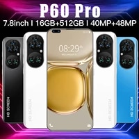 the latest version of android11 p60 pro 16512gb global edition hd screen 5g 5600mah 7 8 inch 10 core smartphone supportsstfcard