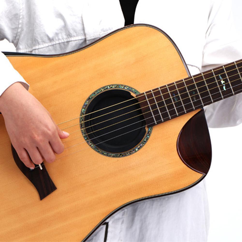 Negro 38 41 pulgadas Universal de silicona guitarra sonido agujero silenciador Anti-aullando silenciador bloque guitarra Classic cubierta música Buffer H3R7