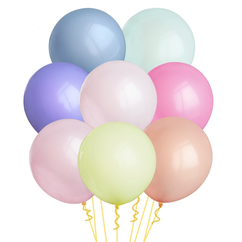 5 unids/lote redondos de globos de látex macarrón de 18 pulgadas, 10 colores, Pastel de caramelo grande, decoraciones de arco para fiesta de cumpleaños, boda, despedida de soltera