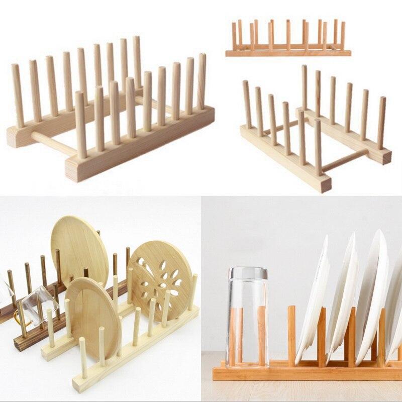 Кухонная сушилка для посуды, органайзер для хранения посуды, поднос, полка для сушки тарелок, деревянные книжные чашки, демонстрационная по...