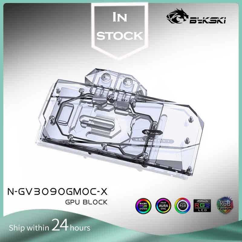 Bykski N-GV3090GMOC-X PC مياه التبريد GPU برودة فيديو بطاقة الرسومات المياه كتلة لجيجابايت RTX3090 rtx 3080