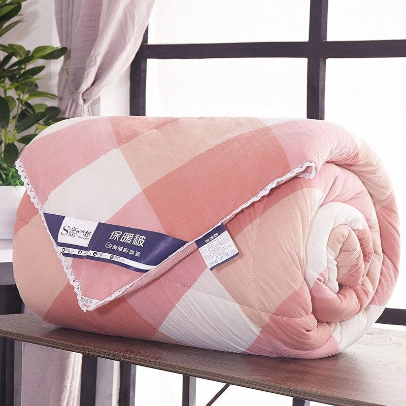 لحاف شتوي دافئ للغاية ، بطانية سميكة من الريش الخفيف ، غطاء سرير ناعم مسامي ، ألحفة تكييف الهواء ، الخريف