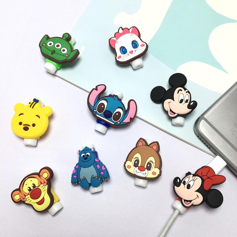 Protector de cables de Disney, bobinador de cables USB de Minnie para...