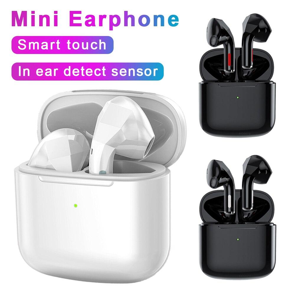 TWS Wahre Drahtlose Kopfhörer Bluetooth Kopfhörer Hifi Stereo Smart Touch Drahtlose Kopfhörer In Ohr Erkennen Sensor Mini Headset Neue