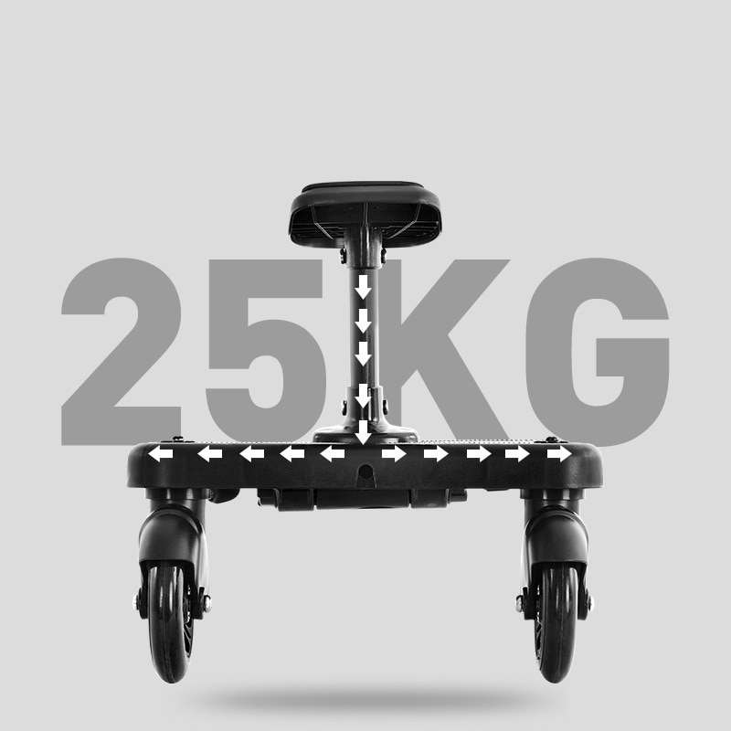 Universal Stroller Pedal Adapter Second Child New Prams Auxiliary Trailer Twins Scooter Hitchhiker Kids Standing Plate with Seat enlarge