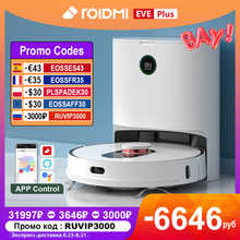 ROIDMI EVE Plus Robot Vacuum Cleaners Smart Home APP Control Assistant Alexa Mi Home Floor Cleaning White Robot Dust Collection