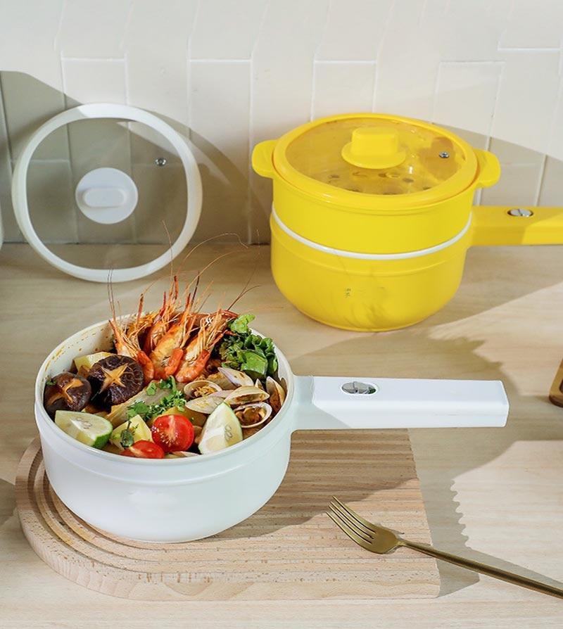 Z30-مقلاة كهربائية متعددة الوظائف للطعام ، قدر بخار ، 1.5 لتر ، صندوق غداء كهربائي ، أجهزة منزلية ، مطبخ ، إفطار ، أرز