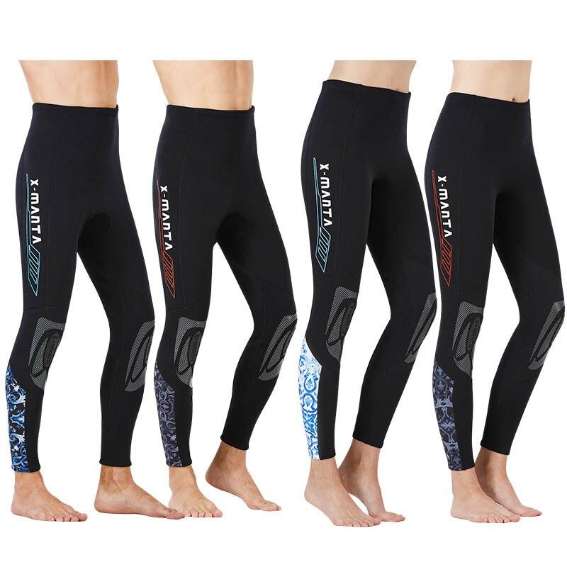 Pantalones de buceo para hombres y mujeres, pantalones de buceo de neopreno de 1,5mm, pantalones de esnórquel para surfear a prueba de frío, pantalones de natación a prueba de sol