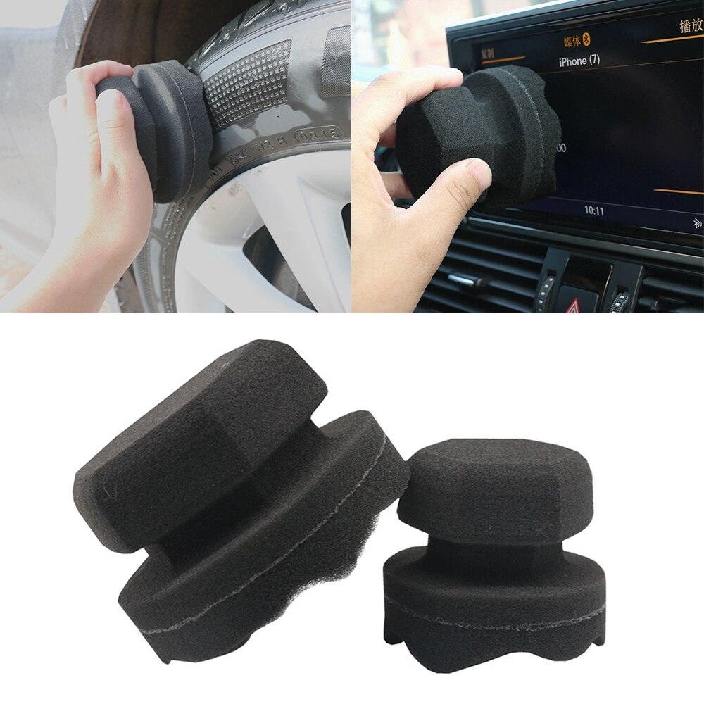 8/11 Cm Car Wax Polishing Sponge  Facilitates The Details Of The Wave Type Tire Bandage Tools Hexagonal Grip Applicator Tire Wax