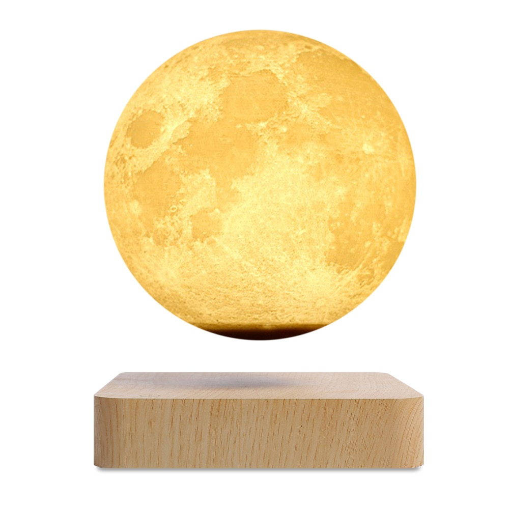 2021 NEW Creative 3D Magnetic Levitation Moon Lamp Night Light Rotating Led Moon Floating Lamp Home Decoration Holiday Gift