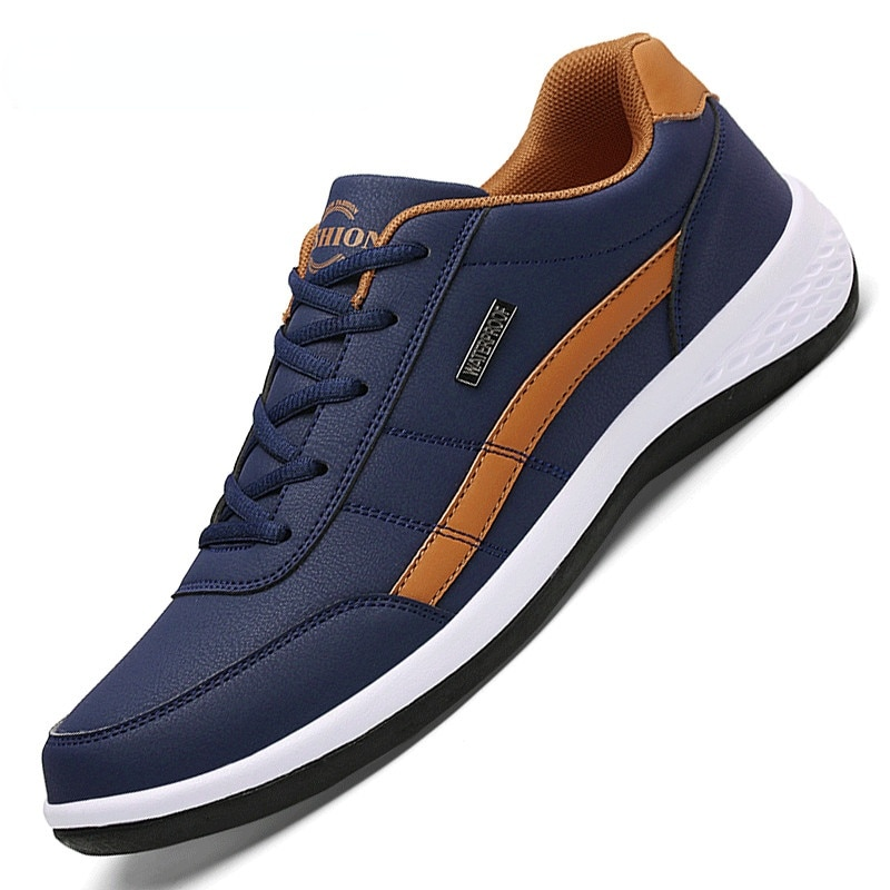 Leather Men Shoes Luxury Brand England Trend Casual Shoes Men Sneakers Italian Breathable Leisure Ma