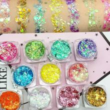 19 Colours Diamond Glitter Eyeshadow Makeup Nail Art Mermaid Sequins Gel Make Up Festival Party Make