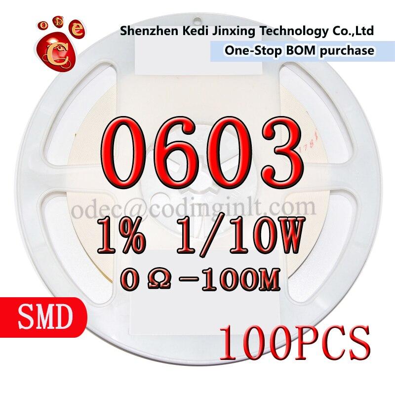 82K 0603 SMD widerstand 1% 1/10W Chip 100 teile/los
