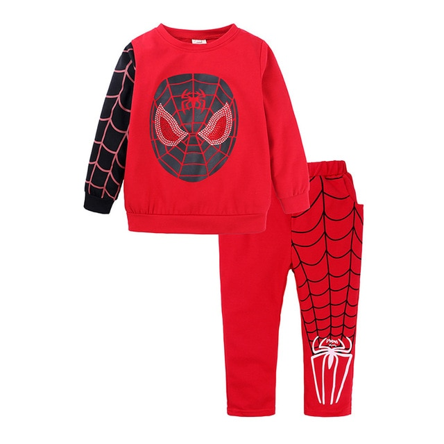 Shangku Kids Boy's Suit New Style for Autumn and Winter Cartoon Chao Man Spider Xia Children's Clothes 4