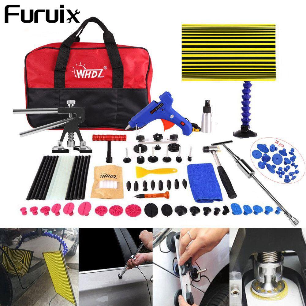FURUIX Tool Car Manual Dent Repair Tool Dent Lifter Bridge Remove with Slide Hammer Hand Tools Set