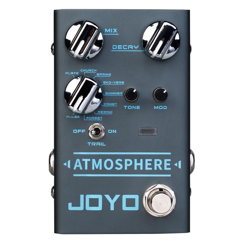 JOYO R-14 Atmosphere- Reverb Pedal Multi Effect Pedal for Electric Guitar Bass Digital Reverb Pedal PLATE CHURCH SPRING COMET