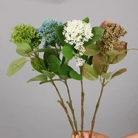tall artificial autumn coral fruits stem for home wedding decoration fake plant
