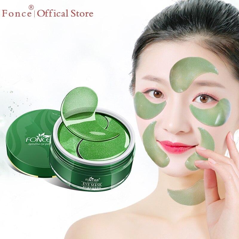 Fonce coreano Deep Sea colágeno alga Ojo de cristal parches 60 piezas reducir las ojeras Gel máscaras de sueño antiarrugas de los ojos