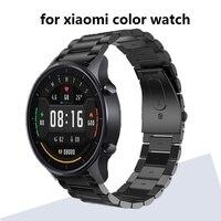 Браслет из нержавеющей стали для XIAOMI mi watch, цветной металлический Смарт-браслет amazfit pace GTR 47 мм stratos 3 2 2S